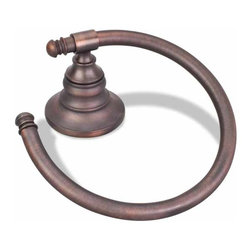 Hardware Resources - Trevi Smooth Towel Ring (HR-BHSM-06DBAC) - Trevi Smooth Towel Ring
