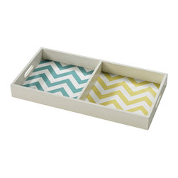 Sterling Industries - Sterling Industries 129-1098 Chevron Print Tray - Tray (1)