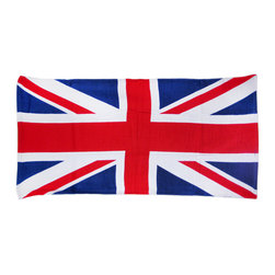 Zeckos - British Union Jack Flag Beach Towel 60 Inches X 30 Inches England - This awesome red, white and blue fiber reactive velour beach towel features a British Union Jack flag design. The towel measures 60 inches long, 30 inches wide, with sewn edges to prevent fraying. It makes a great gift for folks who are proud of their English heritage.