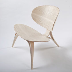 PWHEDSTROM - PWHEDSTROM Crab Armchair - A lounge chair with exaggerated shells that entice and embrace the sitter. Both an homage to mid-century design and a translation of the designer's interest in compound hydrodynamic forms. A sculptural piece which does not sacrifice comfort. The chair is composed of seven bent components, making an extremely strong, efficient structure. Manufactured by PWHEDSTROM.