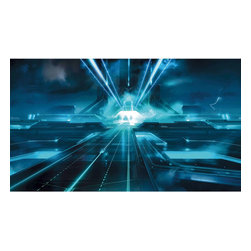 York Wallcoverings - Tron Legacy Giant Prepasted Wallpaper Accent Mural - Features:
