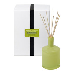 Rosemary Eucalyptus / Office Diffuser - 15 oz. - A tart and refreshing creamy lime shade unifies with the crisp, bracing impression of the Office Diffuser's Rosemary Eucalyptus scent � an aroma that instantly makes a space feel clean without giving the impression of sterility that less luxurious scents can convey.� White florals bring depth and complexity to this relaxing, invigorating�cool-and-spicy blend of elite herbal aromas.