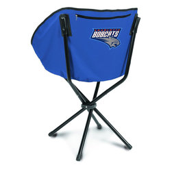 """Picnic Time - Charlotte Bobcats Sling Chair in Navy - The Sling Chair by Picnic Time is a portable, folding chair you can take anywhere. The chair opens to 20"""" wide x 14"""" deep x 30"""" high. No loose parts It's so compact and convenient, you may just want to keep it in the trunk of your car!; Decoration: Digital Print; Includes: 1 nylon drawstring carry bag"""