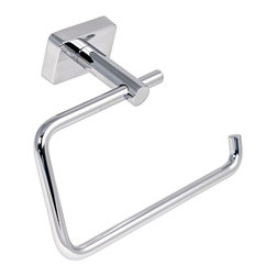 Gedy - Chromed Stainless Steel Toilet Roll Holder - Wall mounted polished chrome toilet roll holder/toilet paper holder. Wall mounted toilet roll holder. Made of stainless steel. From Gedy Minnesota Collection.
