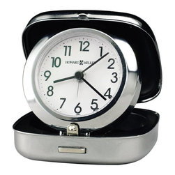 Howard Miller - Howard Miller Clam Shell Alarm Clock - Howard Miller - Alarm Clocks - 645601 - This retro modern travel alarm clock mixes sleek updated style with the throwback vibe of its pop-up clamshell case. Primarily distinguished by the sheen of its thick polished silver-tone bezel and simply styled white dial, this alarm clock is lightweight and easily kept in your baggage or on your person. A separate silver alarm hand and the reliability of quartz movement operation round out the appeal of the Clam Shell Alarm Clock.