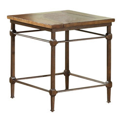 Riverside Furniture - Riverside Furniture Casa Grande End Table in Saltillo Ash - Riverside Furniture - End Tables - 66509 - Riverside's products are designed and constructed for use in the home and are generally not intended for rental commercial institutional or other applications not considered to be household usage.