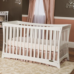 """Child Craft - Child Craft Parisian 3-in-1 Stationary Crib - F12301.85 - Shop for Cribs from Hayneedle.com! Just like the newborns on the Champs Elysee say it """"Oooh la la"""" will be your child's first words when you start them out right in the Child Craft Parisian 3-in-1 Stationary Crib. This modern crib demonstrates a new take on the traditional sleigh crib with the same curves sporting cleaner minimal lines. The wooden body has a sleek white finish that's going to look fresh and appealing through all three of it's phases. At first it's the ideal crib with high sides and all the safety that your child needs. As they grow you've got a day bed and a toddler bed. The included toddler bed conversion kit makes the changes easy. The steel mattress support is designed for thousands of long nights and daily naps while the white finish is sanded and smoothed to be baby-safe and compliant with all current CPSIA and ASTM safety standards. If this is a style that appeals to you be sure to check out the Child Craft Parisian Dressing Table. Every Child Craft crib meets or exceeds government safety standards and is certified by the Juvenile Products Manufacturers' Association (JPMA). About Child CraftFounded in 1911 in Salem Indiana Child Craft Industries is a family-owned American company synonymous with quality and value. Manufacturer of cribs and children's furniture the company is very strongly committed to product standards and safety and combines beautiful design and innovative features with sturdy construction and superior craftsmanship. The principles of quality and integrity that served to guide the company for nearly 100 years remains unchanged even today and Child Craft continues to be a respected name in children's furniture."""