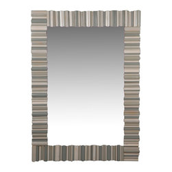 Herelle Mirror - Mirror, mirror on the wall ... You don't need to hold the title of Queen to imagine how great this oversized mirror will look on the wall of your living room or bedroom. Its neutral tones make it easy to fit with the existing style of your room — whether it be traditional, modern or cottage.