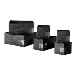 Monika Mulder - SKUBB Storage box, set of 6 - Storage box, set of 6, black
