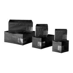 Monika Mulder - SKUBB Storage box, set of 6 - Storage box, set of 6, black