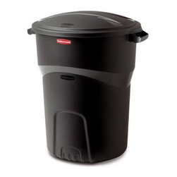 Rubbermaid - Rubbermaid 32 Gallon Non-Wheeled Roughneck Trash Can, Black (8-Pack) - Rubbermaid 5H3800BLA 32 Gal Non-Wheeled Roughneck Trash Can, Black (8 Pack)