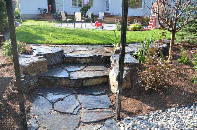 Traditional Landscape by Prairie Outpost Garden Design INC.