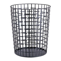 Organize It All Metal Slice Alternation Round Wastebasket - There may be trash inside but the Organize It All Metal Slice Alternation Round Wastebasket is a work of art on the outside.The Metal Slice Alternation Round Wastebasket is constructed of sturdy metal wire and the broken square design will be a fun and modern piece in your home office or dorm room. So go ahead and toss those papers without losing your sense of style.About Organize It AllWith masterful designs using top-quality materials Organize It All is dedicated to providing convenient and stylish storage solutions for every room in your home believing that a well-organized environment is more enjoyable. Offering over 500 products for everyday use the company maintains warehouses in Saddle Brook New Jersey and Costa Mesa California for quick delivery to your home.