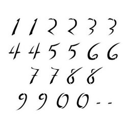 Stencil Ease - Dali Numbers Stencils - Dali Numbers includes two each of 0-9 two dashes and 3 blanks. Comes with 22 individual sheets of durable reusable plastic.