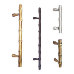 First Impressions, Int. - Solid Brass Bamboo Style Pulls - The realistic looking Bamboo design door pull was achieved by molding the perfect piece of real Bamboo. After perfecting the master molds the craftsman cast each piece from Solid Brass. Each door pull is hand finished in your choice of 13 different high quality finishes.