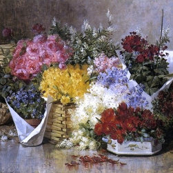"""Abbott Fuller Graves Floral Still Life - 16"""" x 24"""" Premium Archival Print - 16"""" x 24"""" Abbott Fuller Graves Floral Still Life premium archival print reproduced to meet museum quality standards. Our museum quality archival prints are produced using high-precision print technology for a more accurate reproduction printed on high quality, heavyweight matte presentation paper with fade-resistant, archival inks. Our progressive business model allows us to offer works of art to you at the best wholesale pricing, significantly less than art gallery prices, affordable to all. This line of artwork is produced with extra white border space (if you choose to have it framed, for your framer to work with to frame properly or utilize a larger mat and/or frame).  We present a comprehensive collection of exceptional art reproductions byAbbott Fuller Graves."""