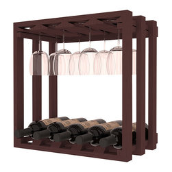 Wine Racks America - Wine Storage Stemware Cube in Ponderosa Pine, Walnut Stain - Designed to stack one on top of the other for space-saving wine storage our stacking cubes are ideal for an expanding collection. Use as a stand alone rack in your kitchen or living space or pair with the 20 Bottle X-Cube Wine Rack and/or the 16-Bottle Cubicle Rack for flexible storage. Choose From optional Industry Leading Quality Eco-Friendly Stains Paired with an Immaculate Satin Finish. Each have custom finishes and are professionally stained to order, so please allow 2-3 weeks after your purchase for your order to be shipped. Store up to 5 Bottles of Wine Plus 8 wine glasses!