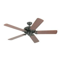 "Sea Gull Lighting - Indoor Ceiling Fans: Sea Gull Lighting Celebrity 52 in. Indoor Weathered Iron Ce - Shop for Lighting & Fans at The Home Depot. The Sea Gull Lighting 52 in. Celebrity Deluxe Ceiling Fan in weathered iron features a 172.0 X 14.0 3 speed motor with a thirteen degree blade pitch. Superior triple capacitor speed control offers country quite"" operation on all speeds. Precision made silicon steel motor with 100% copper windings offer the most efficient performance. Three forward and three reverse speeds with slide switch directional and pull chain speed controls. The full size 300mm housing is constructed of heavy gauge steel with integral switches housing design. Extra-wide 150mm blade sets are perfectly balanced for smooth operation, optimal air movement, and secured with die-cast blind tapped blade irons. Heavy duty ball and bracket are both made of die-cast zinc and deliver smooth balanced operation. Extra safe, locking down rod system included."