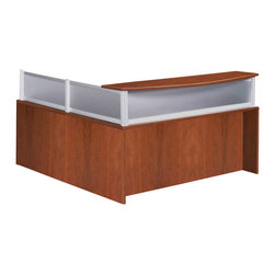 Boss - Plexiglass Reception Return - Cherry - Reversible reception return. Intended for use only with the N269 reception desk shell. Finished in durable yet attractive Cherry laminate with Plexiglass.