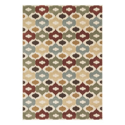 """Loloi Rugs - Loloi Rugs Shelton Collection - Multi, 5'-3"""" x 7'-7"""" - Power-loomed in Turkey of durable polypropylene, Shelton's vivid, graphic designs spotlight�dramatic zigzag chevrons, elegant ironwork and Moroccan tile motifs in a palette that is�pleasing for both him and her. Zen-like, earthy hues of rich black, brick, brown, ivory, misty�blue and camel set a surprisingly soothing tone that can help add style to your home and�order to your day.�"""