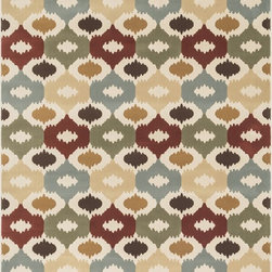 "Loloi Rugs - Loloi Rugs Shelton Collection - Multi, 3'-10"" x 5'-7"" - Power-loomed in Turkey of durable polypropylene, Shelton's vivid, graphic designs spotlight�dramatic zigzag chevrons, elegant ironwork and Moroccan tile motifs in a palette that is�pleasing for both him and her. Zen-like, earthy hues of rich black, brick, brown, ivory, misty�blue and camel set a surprisingly soothing tone that can help add style to your home and�order to your day.�"
