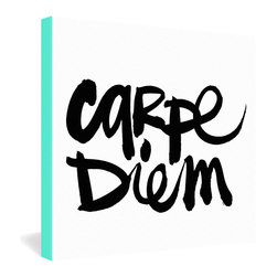 "DENY Designs - Kal Barteski Carpe Diem Gallery Wrapped Canvas - Want your home to show like a museum? Look no further than the gallery wrapped canvas collection! Each Gallery Wrapped Canvas from DENY is made with UV resistant archival inks and is individually trimmed and professionally stretched over 1-1/2"" deep wood stretcher bars. We also throw in the mounting hardware so that when you get it, it's a piece of cake to hang on your wall. The only thing you'll need after your purchase is the cool gallery laser beam security to protect it."