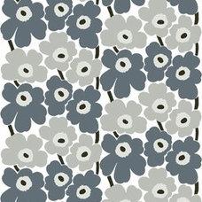 Marimekko Grey Pieni Unikko Fabric - Marimekko Cotton Fabrics