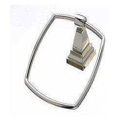 Top Knobs - Top Knobs: Stratton Bath Ring - Polished Nickel - Top Knobs: Stratton Bath Ring - Polished Nickel