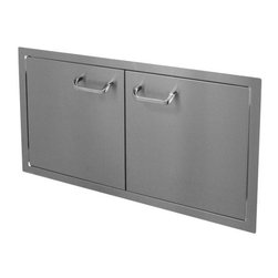 """HBI - Hasty-Bake 36"""" Stainless Steel Standard Double Access Doors (36DD-STD) - These doors feature sturdy 18 gauge all Stainless (304 grade material) single wall construction, trouble free hinges, and�chrome plated�handles. Flat bezel lays flush to cabinet surface. Available in numerous sizes.   Features:"""