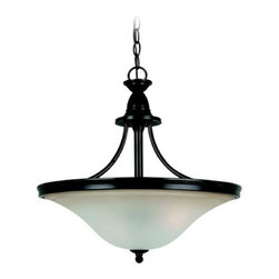 Pendant Light with Amber Glass in Heirloom Bronze Finish -