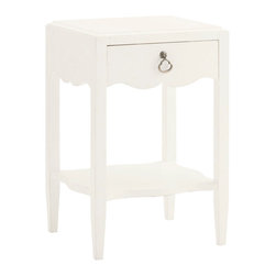 Lexington - Lexington Ivory Key Water Street Bedside Table 543-622 - The small scale chest provides the drawer storage and display shelf ideal for bedside storage without taking up precious space. This is ideal between two twin beds or chairside since it is finished on all four sides.