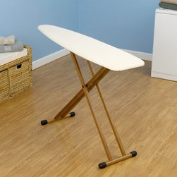 Household Essentials 801454 Fashion Bamboo Legs Ironing Board - Additional information:Thick fiber pad provides matte-free resilient surfaceDurable attractive bamboo legsMetal leg locks hold legs in place for easy storageReduce your environmental footprint while eliminating wrinkles with the Household Essentials 801454 Fashion Bamboo Legs Ironing Board. Not only does this ironing board help you create smooth wrinkle-free clothing it also helps you in your quest to become more eco-friendly.About Household EssentialsCertified by Cradle to Cradle for environmental and sustainable properties Household Essentials is dedicated to meeting your needs at home and in the future. Household Essentials offers customers the latest in laundry and storage innovation while always mindful of quality standards and product responsibility. Every piece in the Household Essentials line is borne from a commitment to environmental health and at-home organization safety and style.