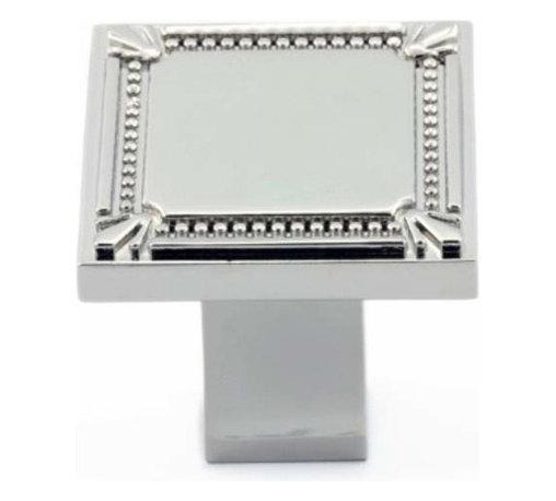 Richelieu Hardware - Richelieu Classic Metal Square Knob Decorative Trim 35mm Nickel - Richelieu Classic Metal Square Knob Decorative Trim 35mm Nickel