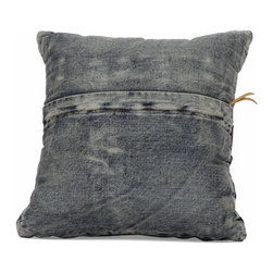 Zuo Modern - Zuo Modern Jean Era Cushion X-12289 - Made from recycled denim fabric sewn into a whimsical design, the Jean cushion is a must for any room.
