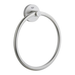 Grohe - Grohe 40 365 EN0 Essentials Towel Ring - Essentials Towel Ring belongs to Essentials Collection by Grohe Many of our faucet lines have their own dedicated range of bath accessories, affording you the luxury of creating an aesthetically cohesive bathing space. From robe hooks to towel bars and rings, each line includes the items you'll need to transform your bathroom into a relaxing and soothing sanctuary. The Essentials line of accessories complements any of our timeless or cosmopolitan faucet lines.  Towel Ring (1)