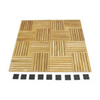 Westminster Teak Furniture - Westminster Teak Flooring Tiles - 910 Square Feet of All Weather Teak Patio Tiles in Parquet Style.  For Decks, Patios, Bath, Spa and Marine use.