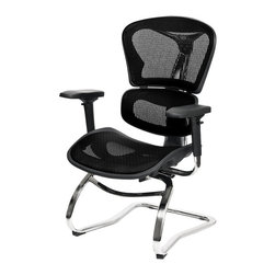 At the Office - 6 Series Guest Chair - The unique structural lines are a standout on this impressive guest chair. Featuring an adjustable back portion, you're free to fine-tune your comfort and support.
