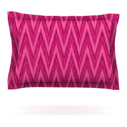 "Kess InHouse - Amanda Lane ""Berry Pink Chevron"" Magenta Purple Pillow Sham (Cotton, 30"" x 20"") - Pairing your already chic duvet cover with playful pillow shams is the perfect way to tie your bedroom together. There are endless possibilities to feed your artistic palette with these imaginative pillow shams. It will looks so elegant you won't want ruin the masterpiece you have created when you go to bed. Not only are these pillow shams nice to look at they are also made from a high quality cotton blend. They are so soft that they will elevate your sleep up to level that is beyond Cloud 9. We always print our goods with the highest quality printing process in order to maintain the integrity of the art that you are adeptly displaying. This means that you won't have to worry about your art fading or your sham loosing it's freshness."