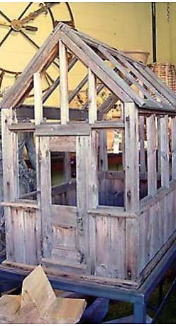 English Coldframe With Steel Stand - This coldframe would make a lovely little greenhouse for a smaller space.