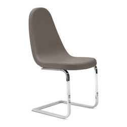 "Domitalia - Blade-sp Dining Chair (Set of 2) - Features: -Steel frame.-Upholstered shell.-15% Polyester, 85% PVC.-50,000 Abrasion resistance cycles.-Collection: Blade-sp.-Distressed: No.-Powder Coated Finish: No.-Gloss Finish: No.-Frame Material: Metal and fabric.-Number of Items Included: 1.-Non-Toxic: Yes.-Weather Resistant or Weatherproof: No.-Scratch Resistant: No.-Rust Resistant: No.-Stain Resistant: Yes.-Fire Retardant: No.-Mildew Resistant: No.-Arms Included: No.-Removable Seat Cushions: No.-Seat Cushion Fill Material: Foam.-Removable Seat Cushion Cover: No.-Tufted Seat Upholstery: No.-Welt on Seat Cushions: No.-Upholstered Back: No.-Nailhead Trim: No.-Swivel: No.-Foldable: No.-Stackable: Yes.-Number of Legs: 2.-Leg Material: Steel.-Casters: No.-Protective Floor Glides: Yes.-Adjustable Height: No.-Ergonomic Design: No.-Saddle Seat: No.-Outdoor Use: No.-Weight Capacity: 300 lbs.-Swatch Available: Yes.-Commercial Use: Yes.-Recycled Content: No.-Eco-Friendly: Yes.-Product Care: Wipe clean with a dry cloth.-Country of Manufacture: Italy.Specifications: -FSC Certified: No.-ISTA 3A Certified: No.-General Conformity Certificate: No.-Green Guard Certified: No.-ISO 14000 Certified: Yes.-ANSI BIFMA Certified: No.Dimensions: -Overall Height - Top to Bottom: 37.75"".-Overall Width - Side to Side: 17.75"".-Overall Depth - Front to Back: 24"".-Seat Height: 19"".-Seat Width - Side to Side: 17.75"".-Seat Depth - Front to Back: 23"".-Overall Product Weight: 22.87 lbs.Assembly: -Assembly Required: No.-Additional Parts Required: No.Warranty: -Product Warranty: 1 year."