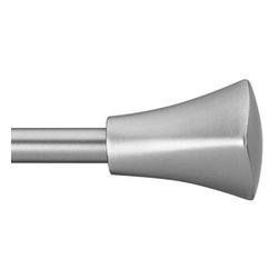"""Umbra - Tap Drapery Rod, 28-48"""" by Umbra - Telescoping rod in a nickel finish, two decorative finials, and complete mounting hardware. Designed to fit a range of window sizes, the rod extends from 28-Inch to 48-Inch long."""