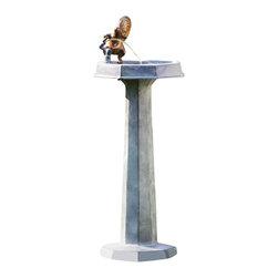 """SPI - Thirsty Squirrel Garden Fountain - -Size: 36.5"""" H x 15.5"""" W x 15"""" D"""