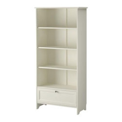 Carina Bengs - SMÅDAL Bookcase with drawer - Bookcase with drawer, white