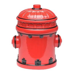 ATD - 8.25 Inch Red and Black Fire Hydrant Themed Ceramic Cookie Jar - This gorgeous 8.25 Inch Red and Black Fire Hydrant Themed Ceramic Cookie Jar has the finest details and highest quality you will find anywhere! 8.25 Inch Red and Black Fire Hydrant Themed Ceramic Cookie Jar is truly remarkable.
