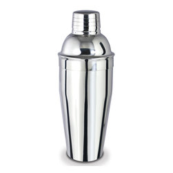 Cuisinox - Cuisinox 24oz Cocktail Shaker - Amaze your friends with your barman talents as you brew your favorite cocktails and drinks using this mirror finish stainless steel cocktail shaker. It's great for that martini  in. Shaken not Stirred, in.  and are amazing for mixing homemade salad dressings.