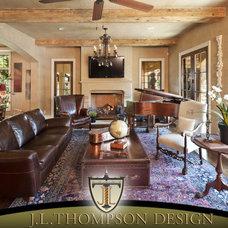 Traditional Living Room by J L Thompson Design Group