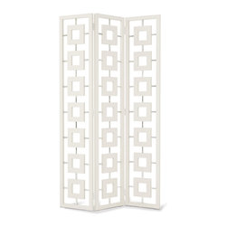 Desmond Screen - If you need a little stylish separation within one space, use this smashing screen from Jonathan Adler. It's very Don Draper visits Palm Springs.