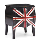 ZUO ERA - Union Jack Small Cabinet Distressed Black - Here's a traditional piece that gives a respectful nod to the UK. This rustic cabinet has a nice antiqued look with a weathered finish and rustic handles. The British Union Jack painted on the front gives this eye catcher instant appeal.