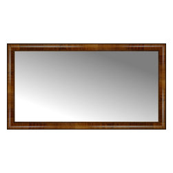"Posters 2 Prints, LLC - 46"" x 25"" Belmont Light Brown Custom Framed Mirror - 46"" x 25"" Custom Framed Mirror made by Posters 2 Prints. Standard glass with unrivaled selection of crafted mirror frames.  Protected with category II safety backing to keep glass fragments together should the mirror be accidentally broken.  Safe arrival guaranteed.  Made in the United States of America"