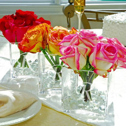 Cathys Concepts - Cathys Concepts 4 in. Personalized Centerpiece Vase - Set of 3 Multicolor - 3801 - Shop for Decorative Bowls and Vases from Hayneedle.com! The creativity and fun comes in sets of three with the Cathys Concepts 4 in. Personalized Centerpiece Vase - Set of 3. Triple your pleasure by adding initials or special messages to these marvelous center pieces for your wedding or another special occasion such as an anniversary or birthday celebration. Use the glass vases as flower holders or as floating candle boats. Either way your guests will walk with away with a lasting memory and a special keepsake.About Cathy's ConceptsA leading business-to-business manufacturer and distributer of personalized gifts and wedding accessories Cathy's Concepts was founded in 1988 by Cathy LaValley and is headquartered in Indianapolis Indiana. With over two decades of experience in innovative product development as well as personalizing packaging and shipping experience the people at Cathy's Concepts pride themselves on creating and maintaining higher standards greater opportunities and tailored business solutions to fit all their customer's needs.